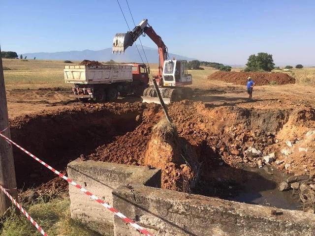 Άρτα: ΔΗΜΟΣ Ν.ΣΚΟΥΦΑ - Εργασίες κατασκευής βιολογικού καθαρισμού και τοποθέτηση αγωγών στο Νεοχώρι