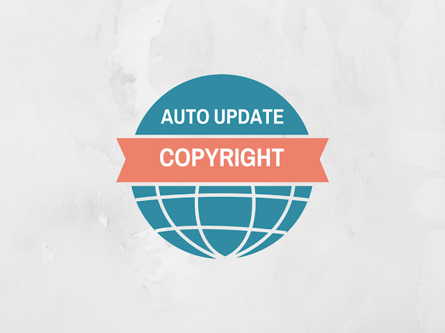 Auto Update Copyright Year : HTML JavaScript