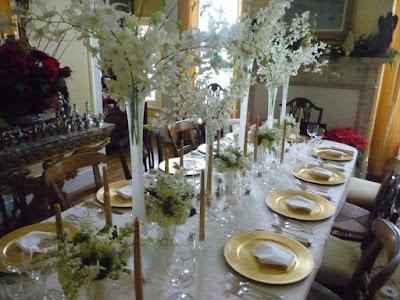 deco de table blanc pour noel