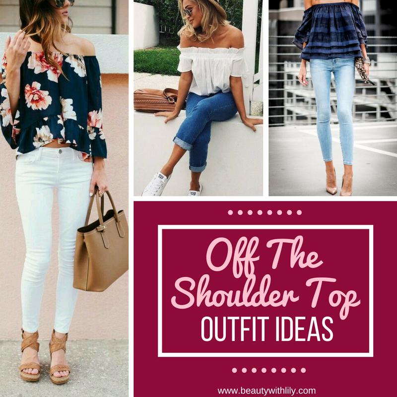 Off The Shoulder Top Outfit Ideas // Plus Size Off The Shoulder Tops // Cute Summer Outfit Ideas | beautywithlily.com