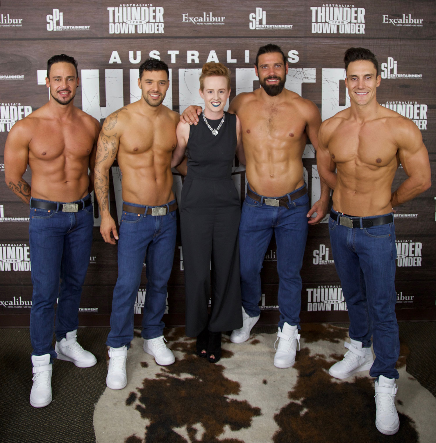 Thunder From Down Under - Pre-Show Group shot, male revue