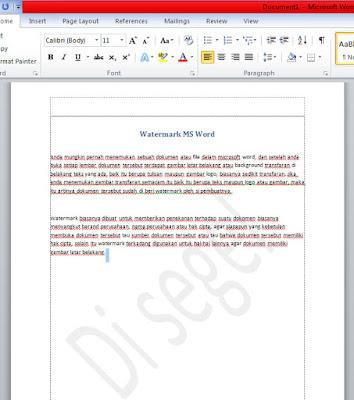 Watermark ms word