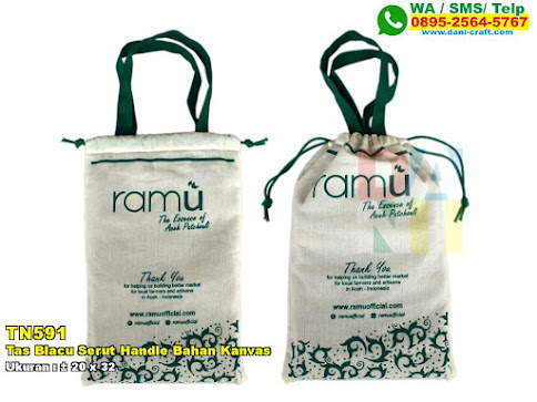Tas Blacu Serut Handle Bahan Kanvas