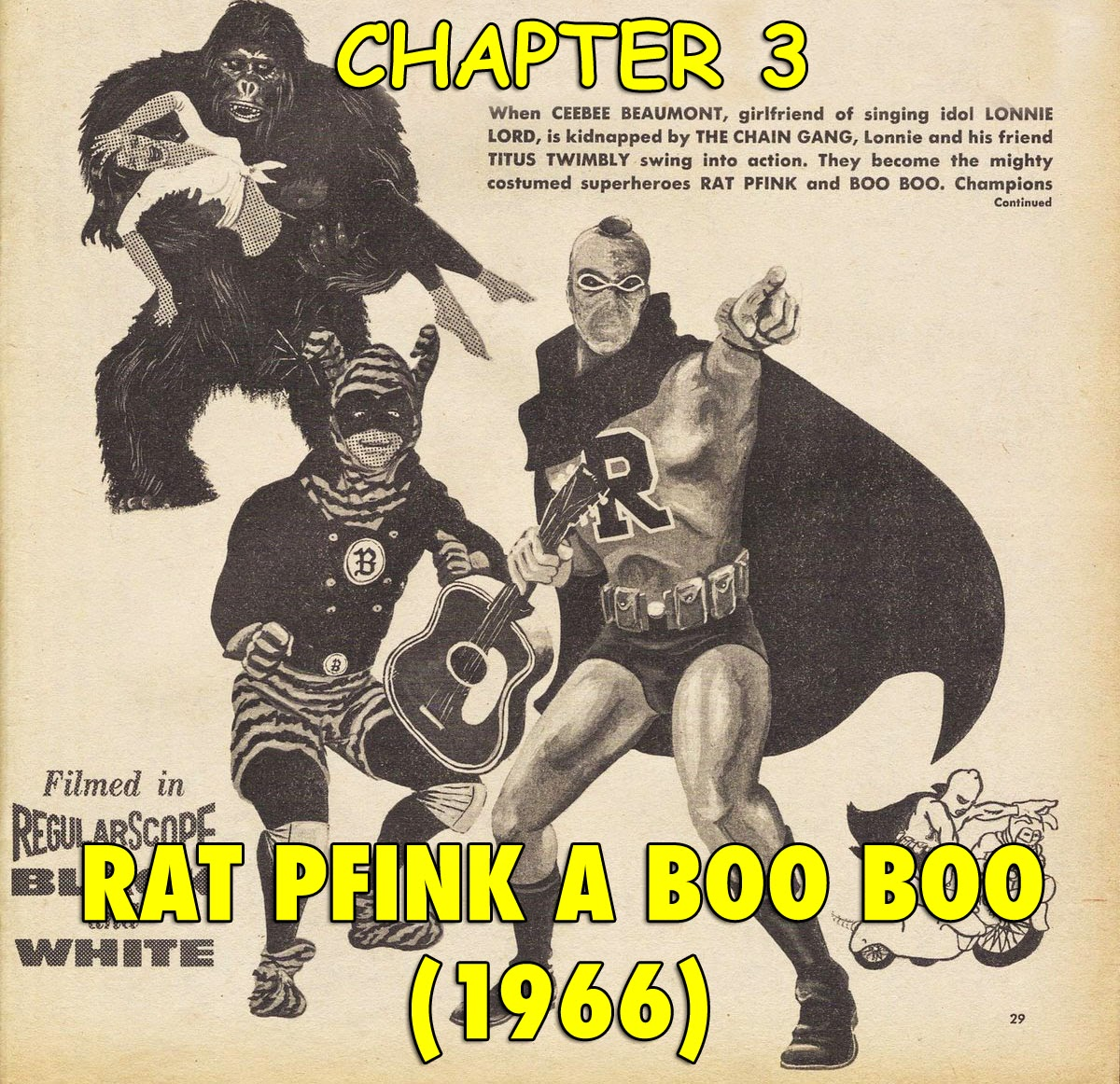 Rat Pfink A Boo Boo 1966 cult superhero films