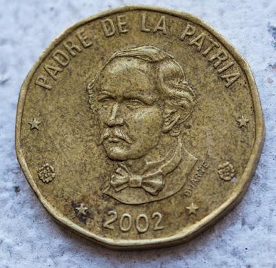 Overse of 2002 Dominican Republic 1 Peso, Padre de la Patria