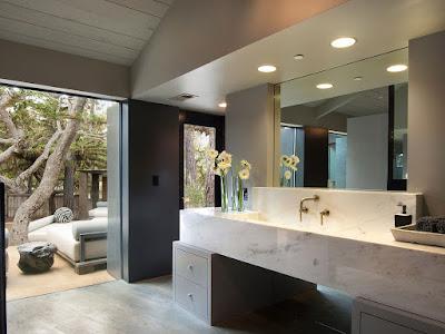 แบบห้องน้ำกระเบื้องหินแกรนิต สำหรับบ้านชั้นเดียว