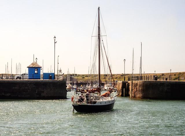 Photo of the yacht we followed into Maryport Marina yesterday