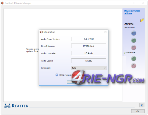 Realtek High Definition Audio Drivers R2.80 6.0.1.8004 Terbaru