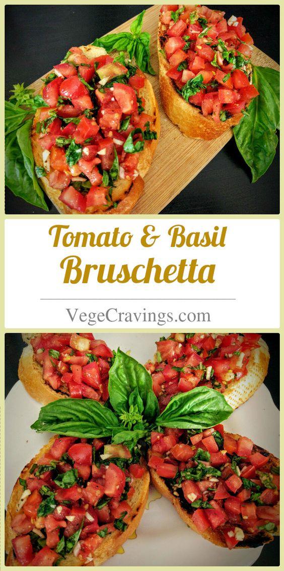 Tomato & Basil Bruschetta Recipe
