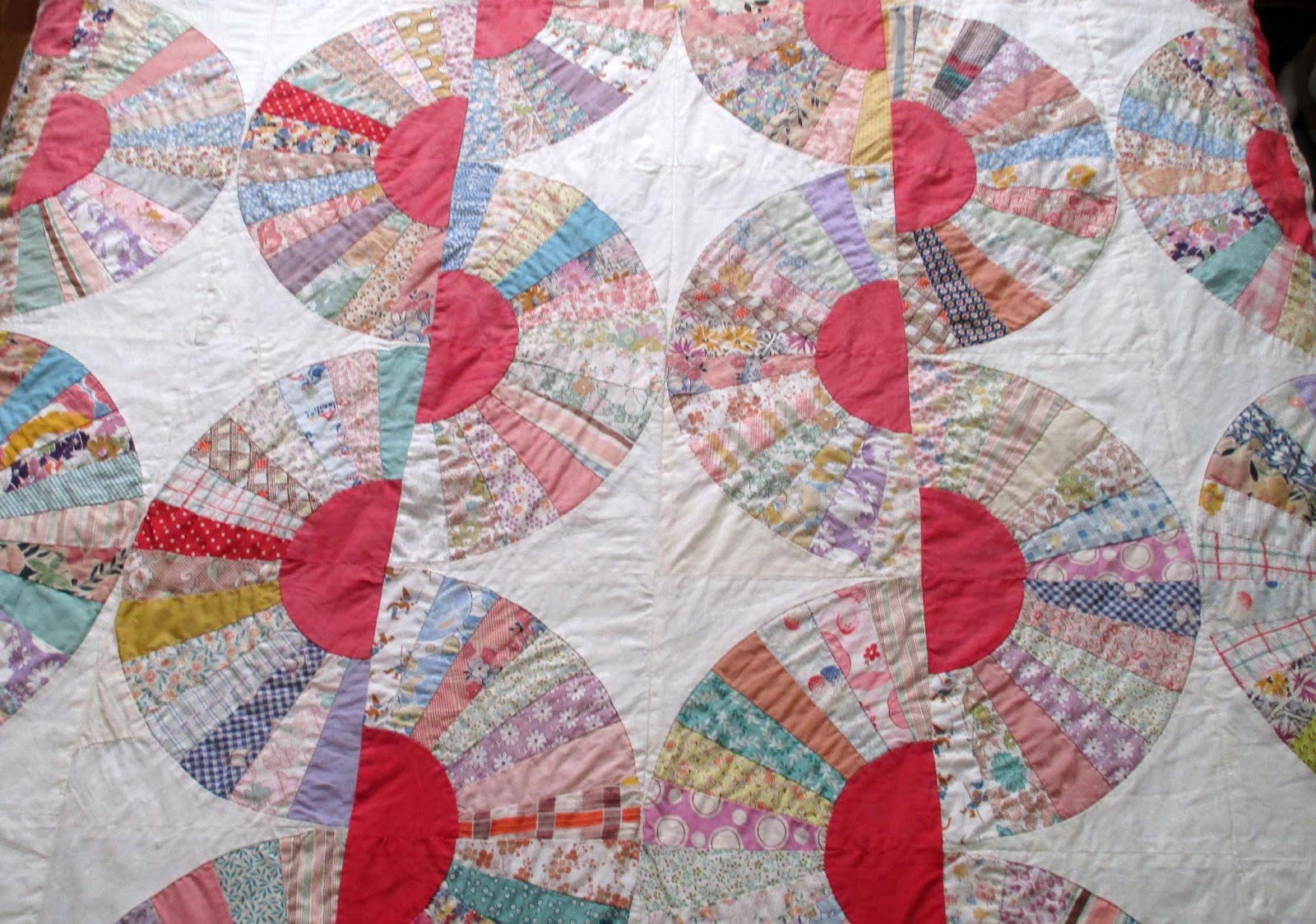 The Literate Quilter: A Gifted Grandmother's Fan Quilt : preprinted quilt tops - Adamdwight.com
