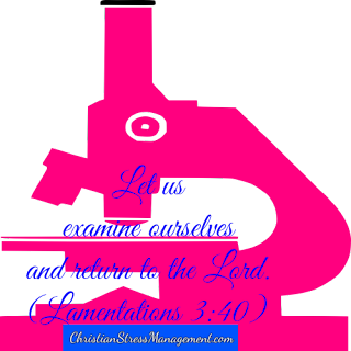 Let us examine ourselves and return to the Lord. (Lamentations 3:40)