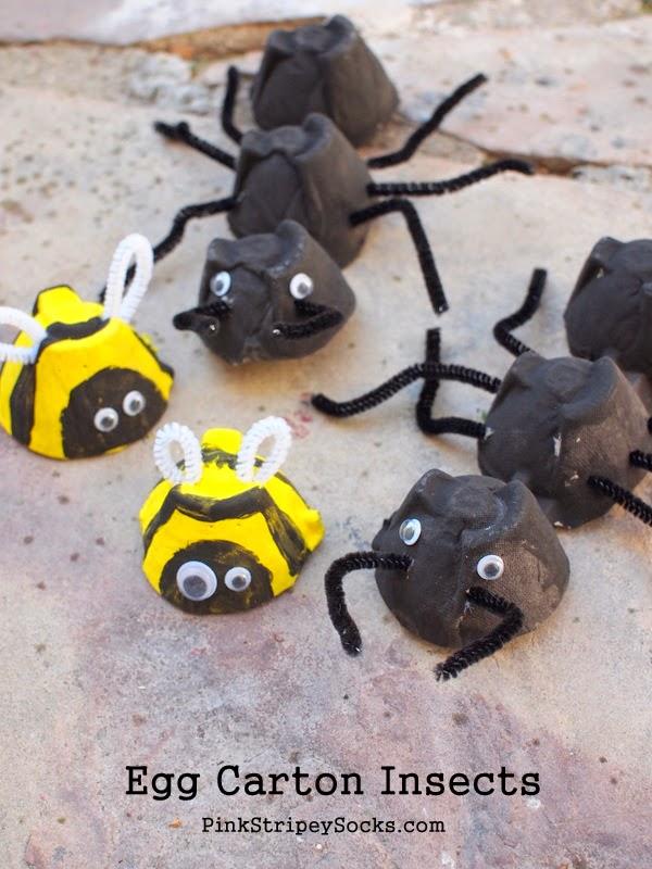 insectes jouets en carton à faire soi même