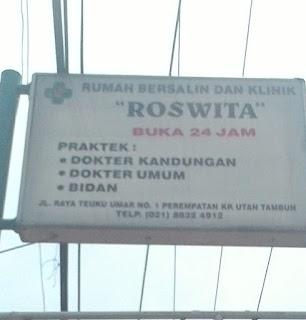 Klinik dan Rumah Bersalin Roswita - Bidan