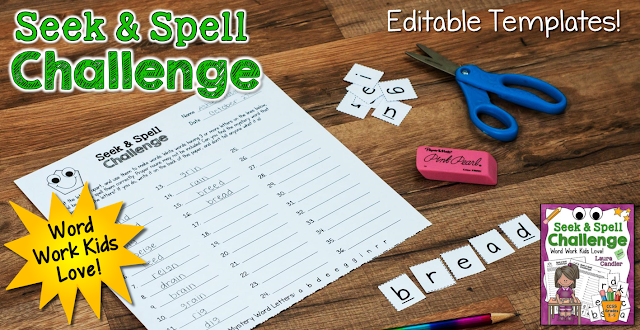 Seek & Spell Challenge is an engaging word work activity that's so fun your kids won't know they're learning!
