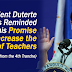 Teachers Reminded the President of his Promise