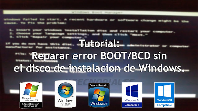 Error boot bcd windows