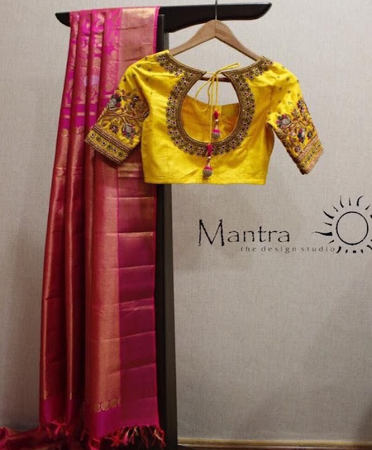 Kanchi Pattu Saree by Mantra Studio
