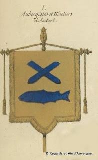 Armoiries des aubergistes d'Ambert puy-de-dôme.
