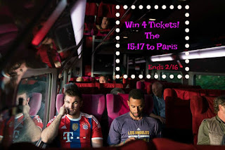 Enter the The 15:17 to Paris Giveaway. Ends 2/16