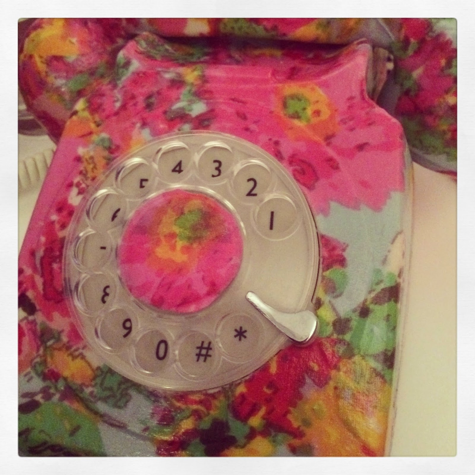 floral telephone from notonthehighst.com copyright afra willmore