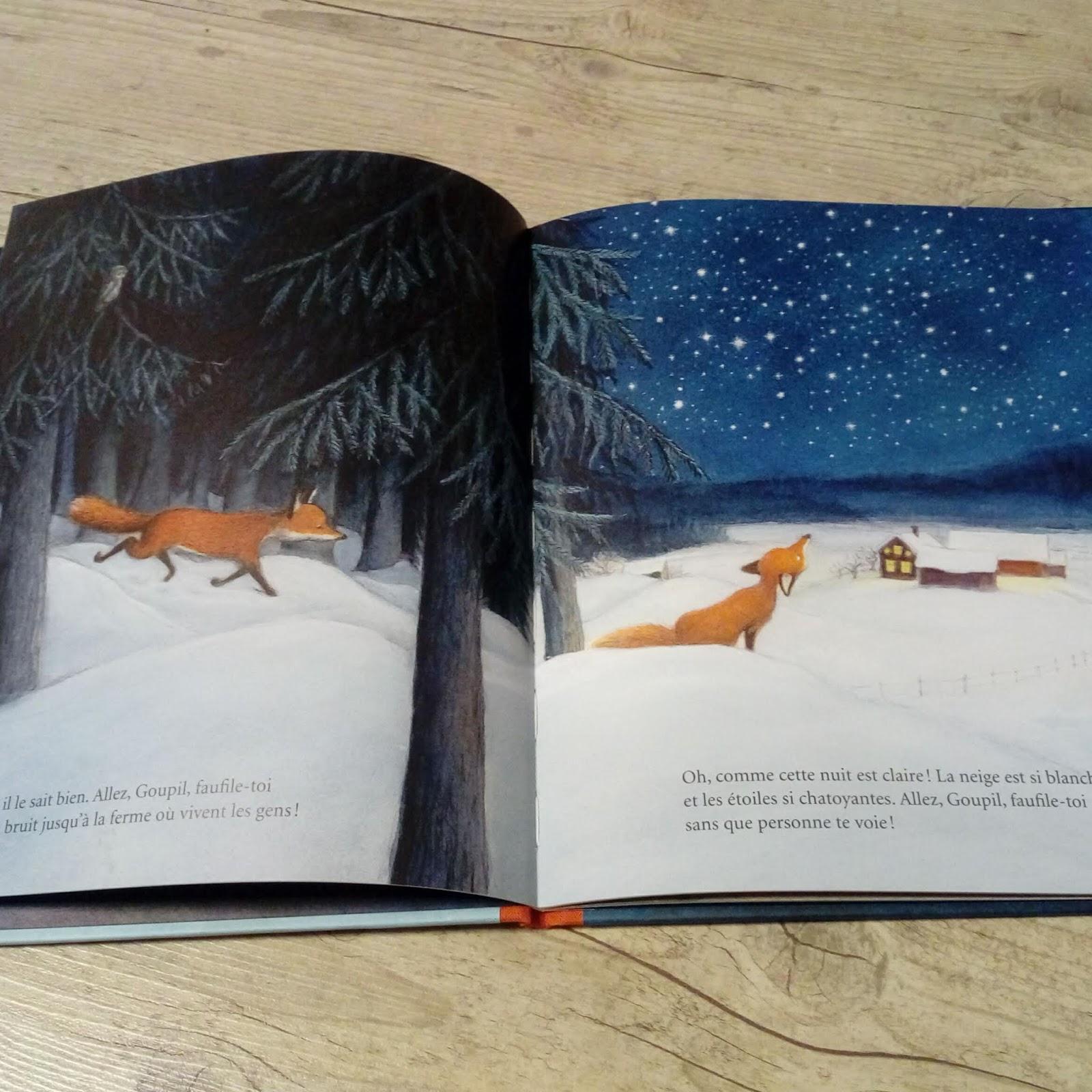 8429e4c4ef467a Un renard se faufile dans la nuit. Il a faim. Il fait froid. Autour de lui,  la nature a revêtu son manteau blanc. Sans un bruit, il s approche de la  ferme ...