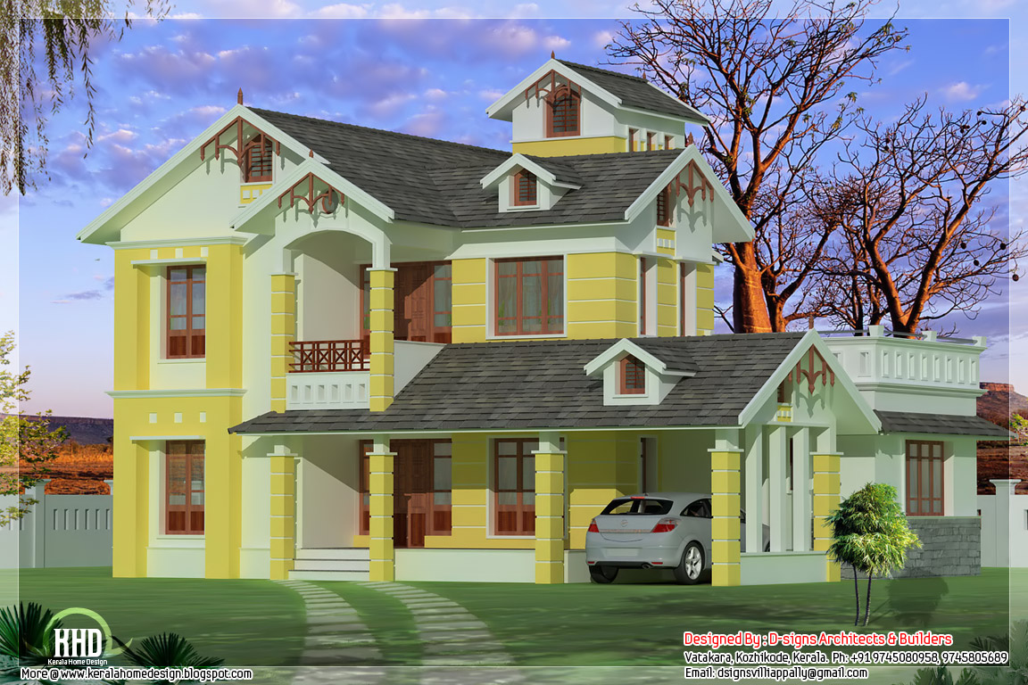 August 2012 kerala home design and floor plans for Small villa design photos