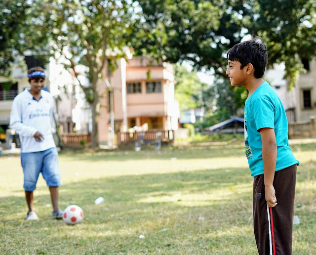 Sourajit Saha and Rick Playing Football 8