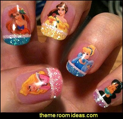 Disney Princesses Nail Decals-Belle Cinderella Ariel-Art Decoration Sticker