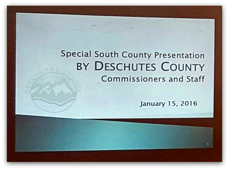 In the News: News for La Pine and Surrounding Communities: January 2016