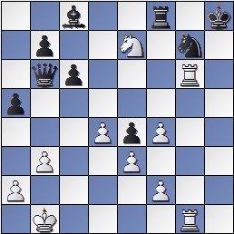 Posición de la partida de ajedrez Ulvestad, Olaf - Steiner, Herman después de 37. Txg6