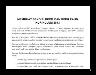 Download RPPM dan RPPH Kurikulum 2013 Tahun 2016