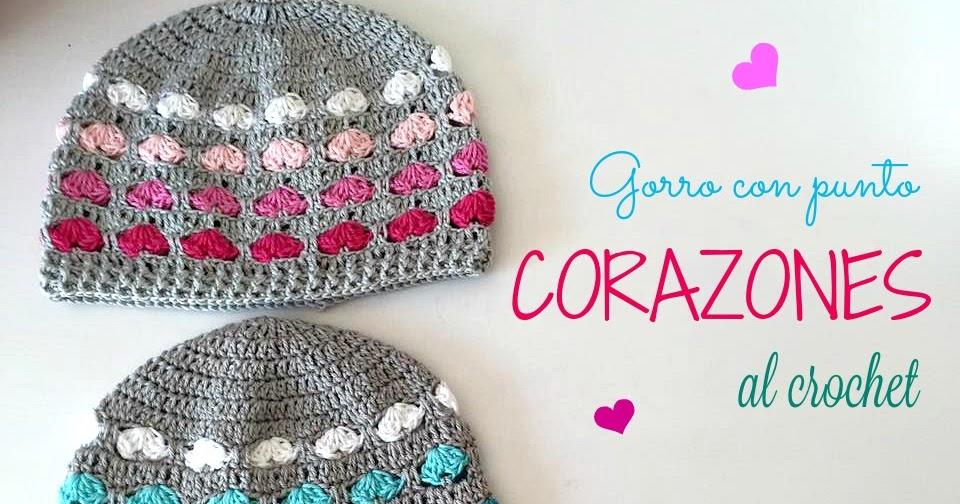 La Magia del Crochet: Gorro de Corazones a Crochet