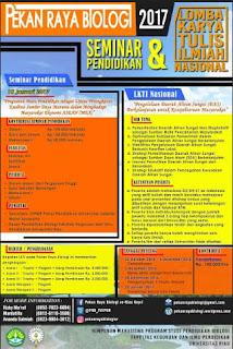 Lomba Karya Tulis Ilmiah - PEKAN RAYA BIOLOGI FKIP Universitas Riau