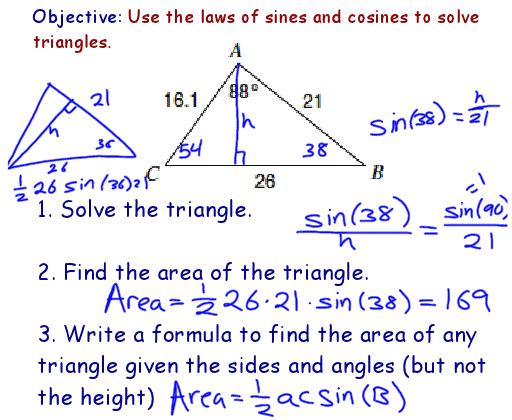 Printables Law Of Sines And Cosines Worksheet drawing on math laws of sines and cosines math