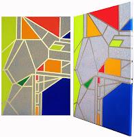 Abstrakte Malerei Colour Blocking