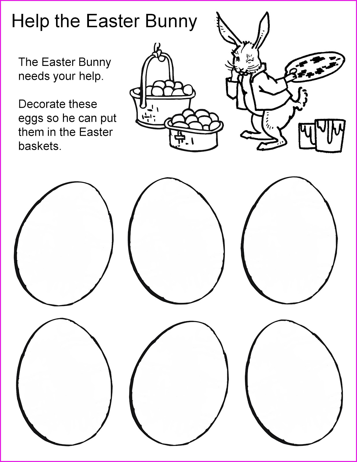 Nonna And Me Easter Activity Sheets