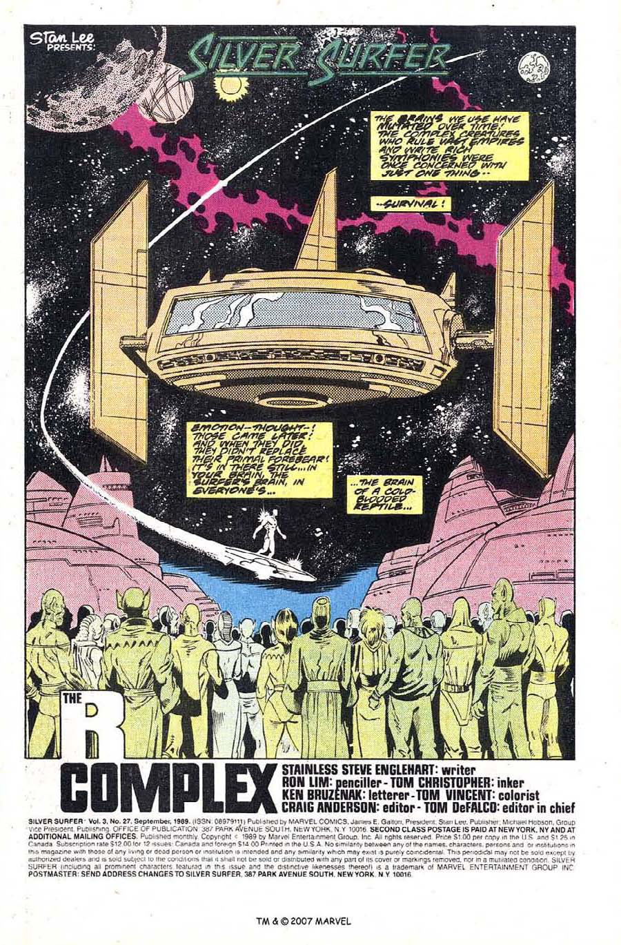 Read online Silver Surfer (1987) comic -  Issue #27 - 3