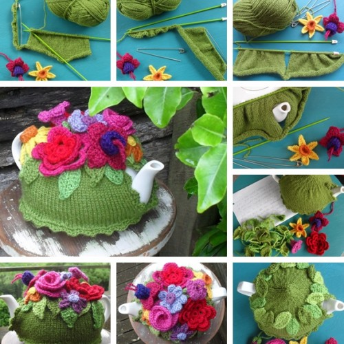 Knit Spring Explosion Tea Cozy - Free Pattern