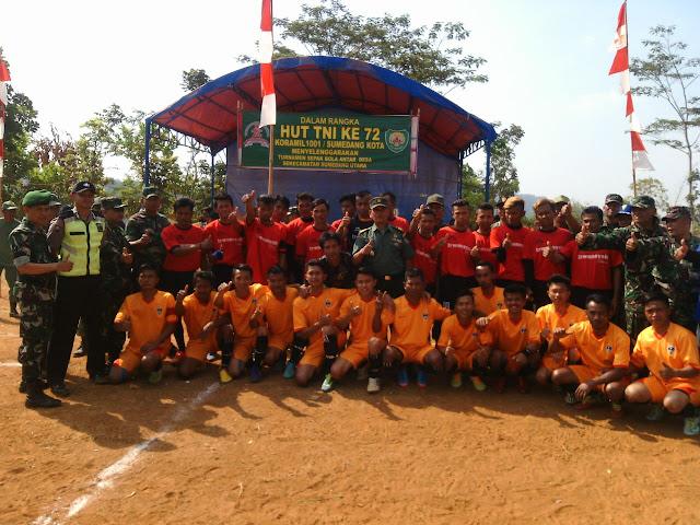 HUT ke-72 TNI, Kodim 0610/Sumedang gelar Open Turnamen Sepak bola