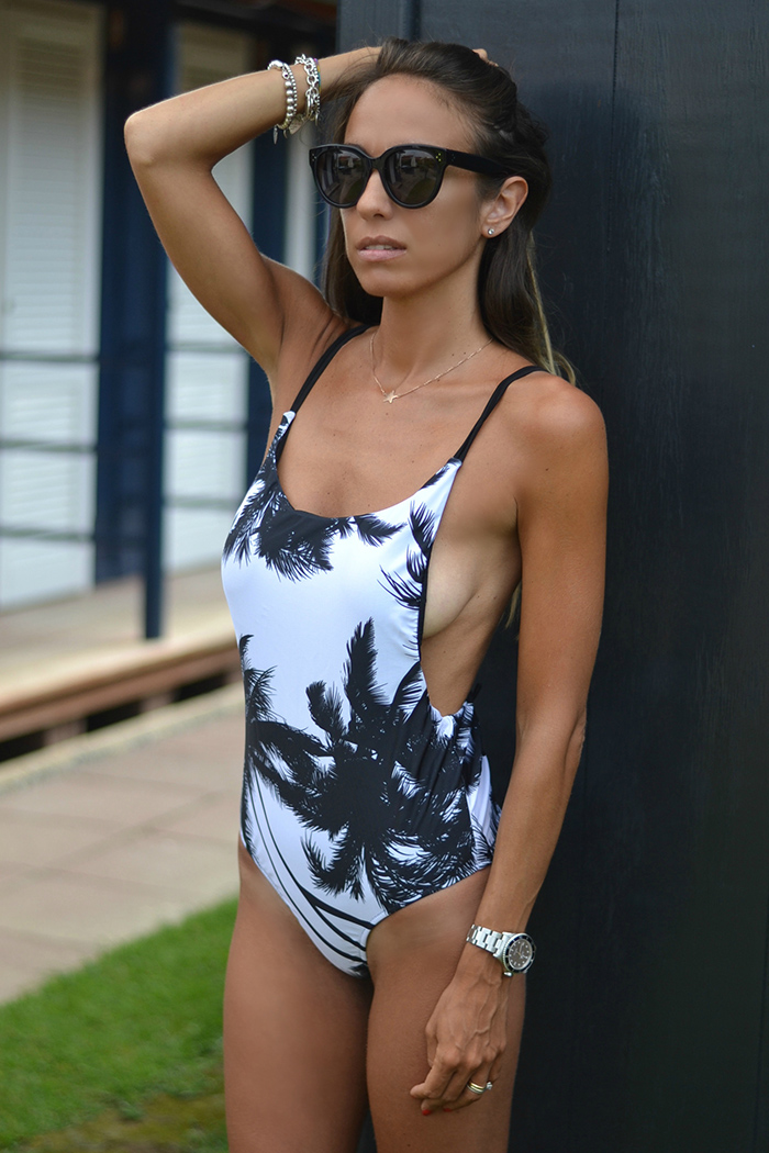 one piece palms swimsuit
