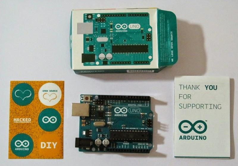 Demostración de como se ve un Arduino Uno R3 Original