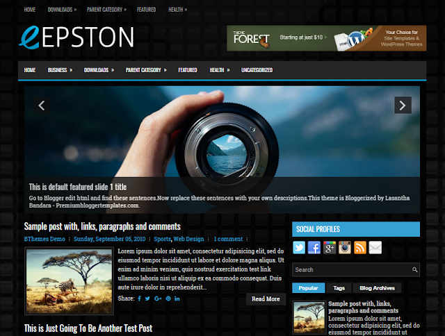 Epston Blogger Template