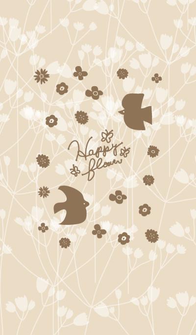 Happy flower-Brown Bird-joc