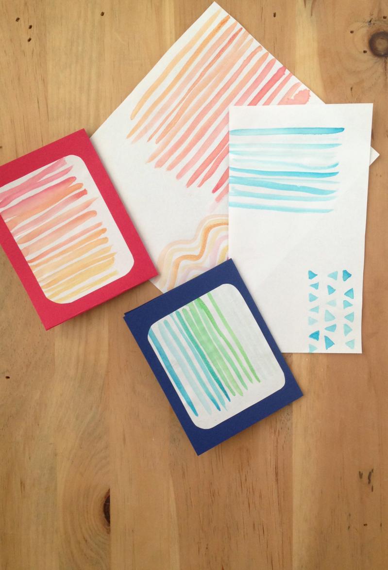 2 Styles of DIY Notecards a hopeful hood