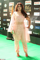 Nidhi Subbaiah Glamorous Pics in Transparent Peachy Gown at IIFA Utsavam Awards 2017  HD Exclusive Pics 32.JPG