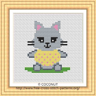 CAT (5), FREE AND EASY PRINTABLE CROSS STITCH PATTERN
