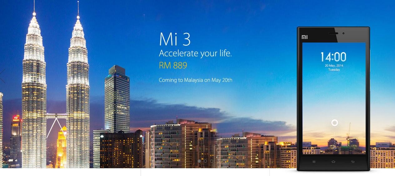 Xiaomi Mi3 launching in Malaysia this coming May 20th