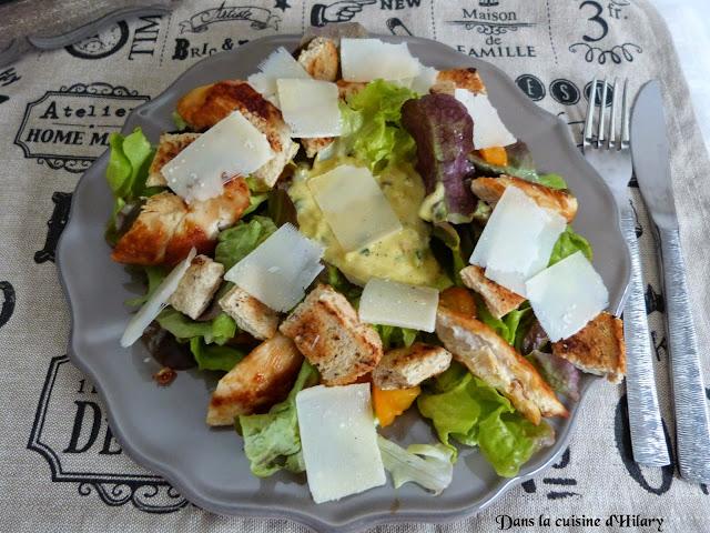 Ma salade Caesar à base de reste