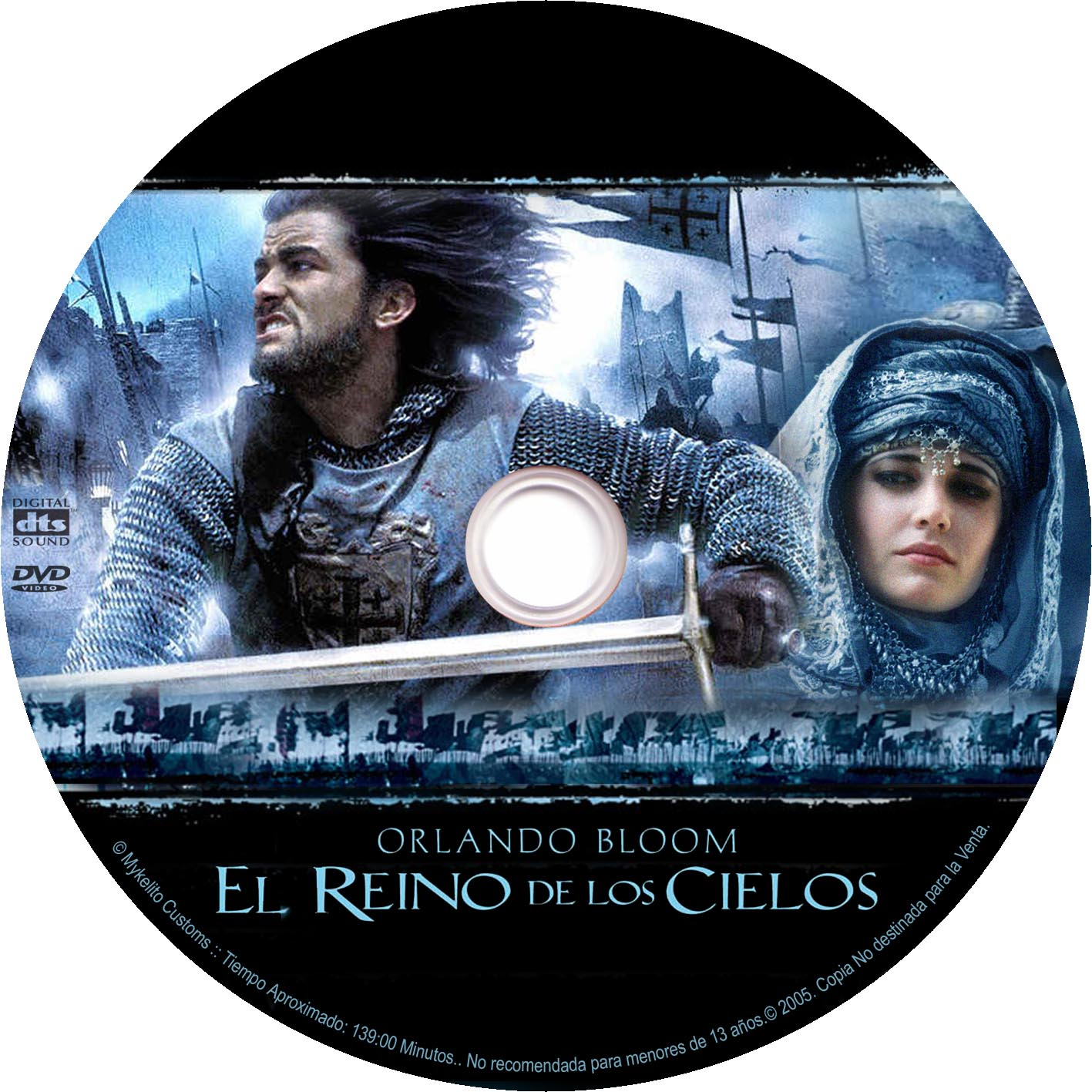It is an image of Impeccable Kingdom of Heaven Dvd Label