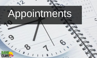 Appointments on 20th June 2020